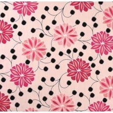 Modern Floral Cotton Home Decor Fabric in Pink Fabric Traders