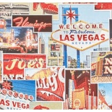 Canvas Polyester Cotton Fabric in Fabulous Las Vegas Design