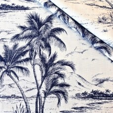 Seas The Day Indoor Outdoor Luxe Home Decor Fabric in Navy and White  Fabric Traders
