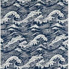 Great Wave Luxe Home Decor Fabric in Deep Sea