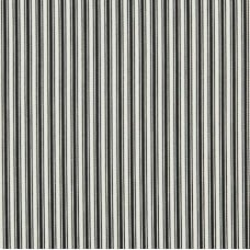 Striped Luxe Ticking in Black and Natural White Indoor Outdoor Fabric