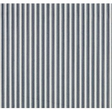 Striped Luxe Ticking in Navy and Natural White Indoor Outdoor Fabric
