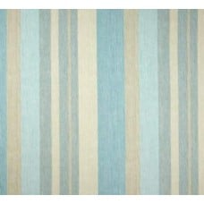 Striped Marine in Aqua Home Decor Cotton Fabric