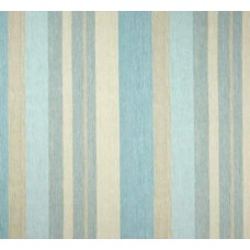 Striped Marine in Aqua Home Decor Cotton Fabric Fabric Traders