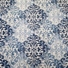 Decorative Motif Design Home Decor Fabric in Shades of Blue Fabric Traders