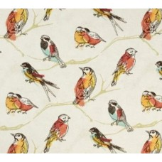 Perched Sketch Birds Indoor Outdoor Fabric