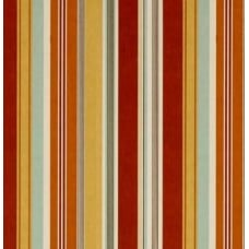 Hudson Stripe Indoor Outdoor Striped Fabric in Sunset