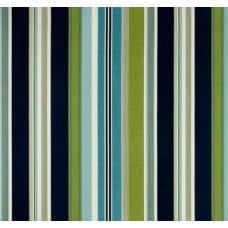 Hudson Stripe Indoor Outdoor Striped Fabric in Green