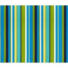 Stripe Indoor Outdoor Fabric in Blue and Green
