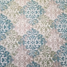 Decorative Motif Design Home Decor Fabric in Teal and Taupe Fabric Traders