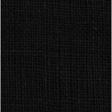 Burlap Vintage Style Fabric in Black