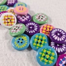 Buttons in Multi Pattern And Colours 20mm