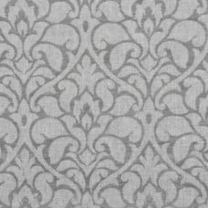 Damask Woven Home Decor Upholstery Fabric in Silver Grey