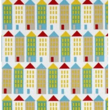Corduroy Little Houses Organic Cotton Fabric Fabric Traders