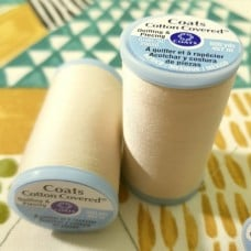 Thread Cotton Covered Cotton in Cream by Coats and Clark
