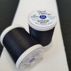 Thread Medium Dual Duty XP Polyester 114m Black by Coats and Clark Fabric Traders