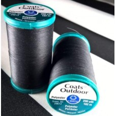 Thread Outdoor Polyester 182m Black by Coats and Clark