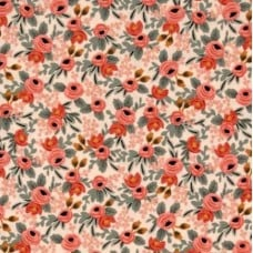 Le Fleurs in Rosa Peach Cotton Fabric Fabric Traders