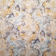 Luxe Smoke Cotton Home Decor Fabric in Golden Tones