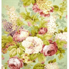 Floral Luxe Bouquet on Green Home Decor Cotton Fabric Fabric Traders