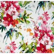 Floral Nadine Home Decor Cotton Fabric in Fuscuia Fabric Traders