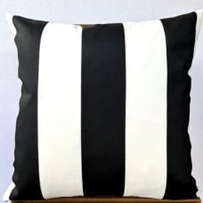 Cushion Cover - Black And White Stripe Indoor Outdoor Fabric