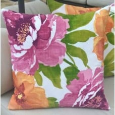 Cushion Cover - Beautiful Garden Muree Ambre Outdoor Fabric Fabric Traders