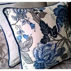 Cushion Covers - Made to Order - Square with Piping Trim Fabric Traders