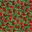 Red Lady Beetles Allover Cotton Fabric