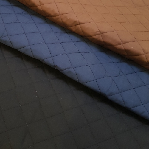 Quilted Double Sided Broadcloth Fabric In Black Fabric