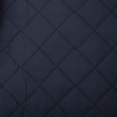 Quilted Double Sided Broadcloth Fabric in Navy Blue