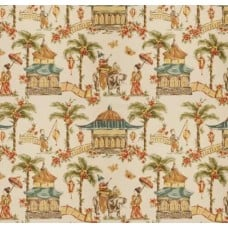 Toile Fabric Oriental Scenes Home Decor Fabric
