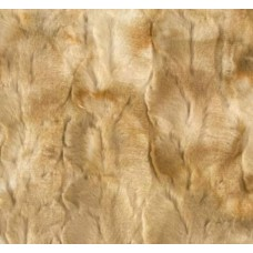 Faux Fur Luxury Rabbit Fabric in Golden Tones