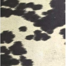 Faux Cow Hide Home Decor Fabric Black Brown
