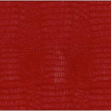 Faux Leather Alligator in Red