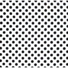 Flannel Dots Cotton Fabric in Black on White Fabric Traders