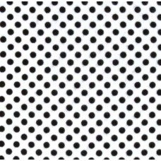 Flannel Dots Cotton Fabric in Black on White