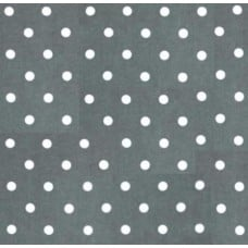 REMNANT - Flannel Dots Cotton Fabric in Grey and White