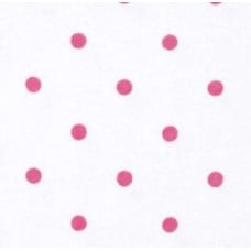 Flannel Dots Cotton Fabric in Pink and White