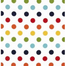 Flannel Dots Cotton Fabric in Rainbow by Riley Blake Designs