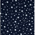 Flannel Stars Cotton Fabric in Navy and White