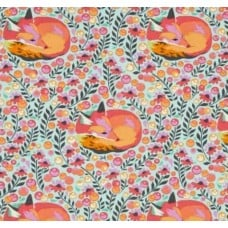 Chipper Fox Nap in Sorbet Cotton Fabric by Tula Pink