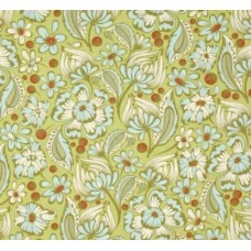Chipper Wild Vines in Mint Cotton Fabric by Tula Pink