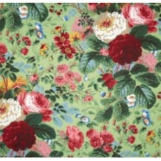 Floral Grandi in Natural Cotton Fabric Fabric Traders