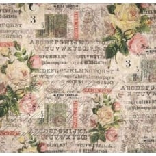 Electric Elements Wallflower Rose Parcel Cotton Fabric
