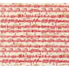 Holly Jolly Jolly Song Cotton Fabric in Red Fabric Traders