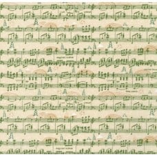Holly Jolly Jolly Song Cotton Fabric in Green
