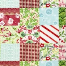 Holly Jolly Jolly Patchwork Cotton Fabric
