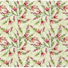 Holly Jolly Jolly Berries Cotton Fabric in Green