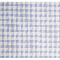 French Terry Stretch Knit Checked Fabric in Lavender Blue and White  Fabric Traders